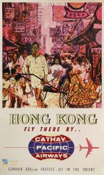 Hong Kong, fly there by Cathay Pacific Airways : Convair 880-22M faster jet in Orient.